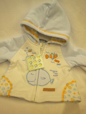 Baby Boys Hooded Jacket Style 6025 By Pequilino 0/3-6/9Mths