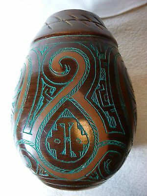 Brazil Pottery Vase From The Amazon Brasil Etched And Hand Numbered 208