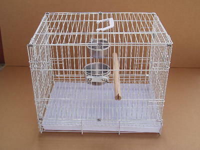 NEW Large Parrot Bird Travel Carrier Foldable Cage 9204-White-458