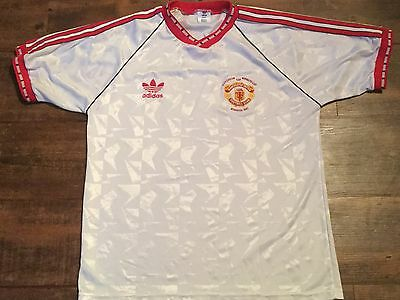 1991 Manchester United ECWC Adults Large Football Shirt Jersey