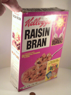 "ORIGINAL 1974-vintage (Paperboard) ""Kellogg's ~ RAISIN BRAN"" (empty) CEREAL BOX!"