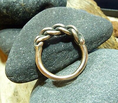Antique Hand Crafted Bronze Viking Ring 6,22 gr.