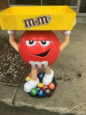 Rare Red M&M Candy Character Large  3 ft  tall. With Locking Wheels PICK UP ONLY