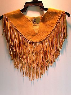 Leather Fringe Shawl -