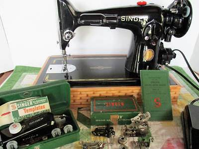 """Singer 201 Centennial Sewing Machine """"The Rolls Royce"""" - See Video"""