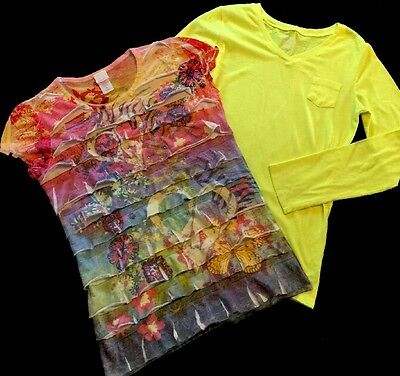 Lot Of Two Size Xl Girls Shirts, Xhilaration And Old Navy!!