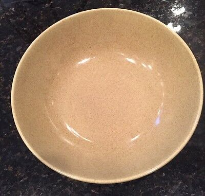 W S George 1930's Light Green Speckled Glaze Large Serving Bowl
