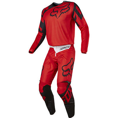 Fox Racing 180 Race Adult Men's Gear Set Red Black White Large / 34