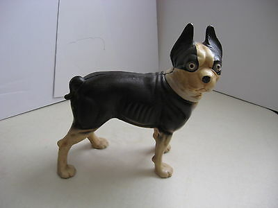 Vintage Cast Iron Boston Terrier Door Stop