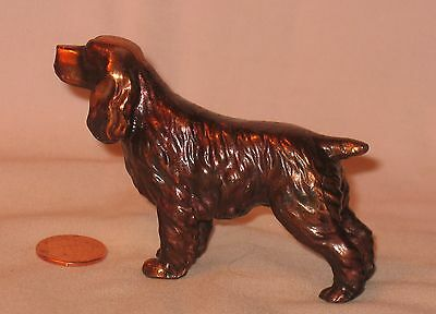 Highly Details Solid Bronze Cocker Spaniel Figure; For Decorative Or Paper Weigh