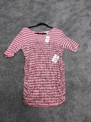 Nwt Jessica Simpson Maternity Pink Tunic Size L New Retail Price $39.98