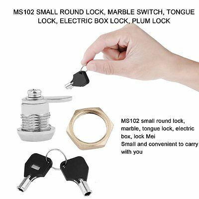 Drawer Tubular Cam Lock For Home Important Items Security With 2 Keys MS102 AF