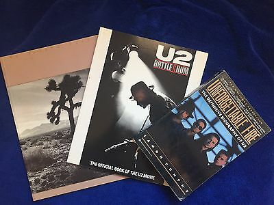 U2 Rattle and Hum, Joshua Tree & The Unforgettable Fire - Books (GREAT Lot of 3)