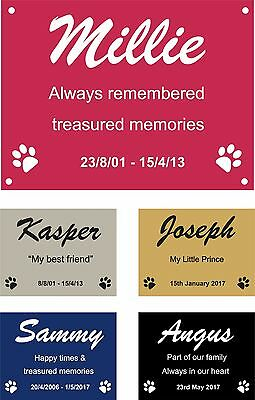 Personalised Pet Memorial Plaque Dog Cat Animal Engraved 8 x 6 cm Your wording