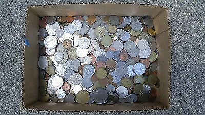 14.2 LBS  - World Coin Lot of Miscellaneous Foreign Coins