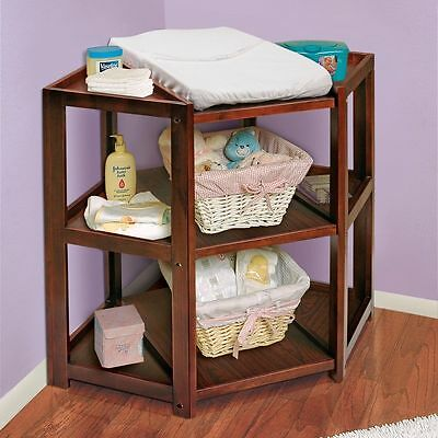 Badger Basket Diaper Station Nursery Furniture Changing For Infants, Cherry
