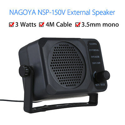 Black Nagoya NSP-150V Loudspeaker for Two Way Radio Auto Vehicle Kenwood Yaesu