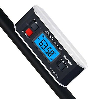 Inclinometer, RISEPRO Digital Protractor Angle Finder Level Inclinometer Magneti