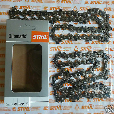 "Two Genuine Stihl Chainsaw Chains Husqvarna 13"" 32cm Bar .325"" 1.5mm 56 Tracked"
