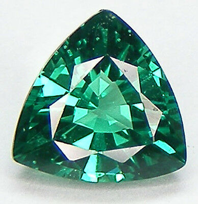 EXCELLENT CUT TRILLION 7x7 MM. LAB CREATED NANOCRYSTAL EMERALD