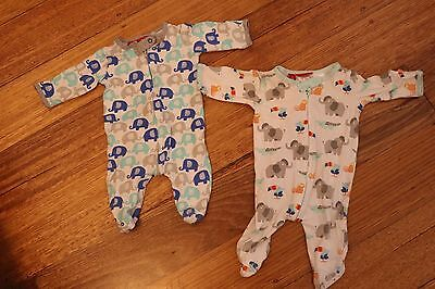 2 X Sprout Coverall / Zippies Newborn 0000 Baby Clothes
