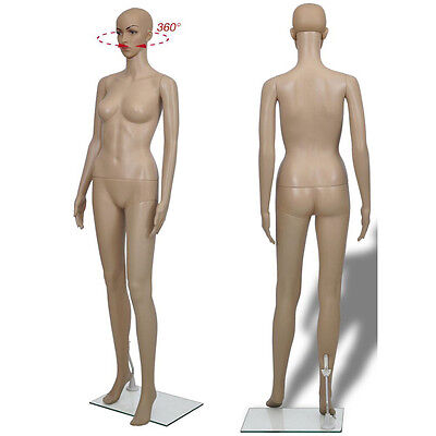 Realistic Female Mannequin Full Body Manikin Dress Form Display with Base F-2