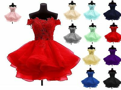 New Short Chiffon Bridesmaid Prom Dress Wedding Evening Formal Party Ball Gown