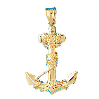 16 mm Jewels Obsession 14K White Gold Anchor Pendant