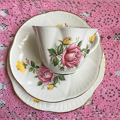 Royal Imperial Post Shelley Dainty Shaped Rose Trio Cup Saucer Plate 2