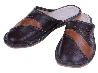 Mens Genuine Leather | Slippers | Sizes 40-46