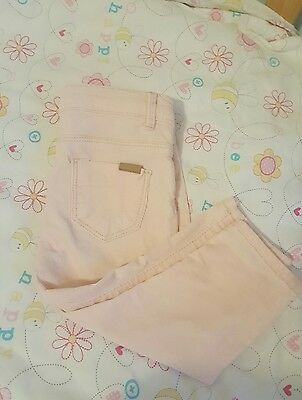zara baby girl 6-9 months pink chord trousers / jeans