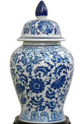 Christophe Blue Porcelain Decorative Urn World Menagerie Free Shipping