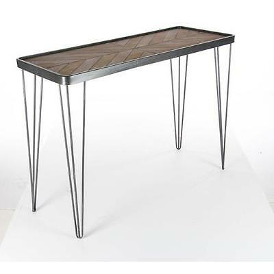 Alycia Metallic Wood Console Table Union Rustic Free Shipping High Quality