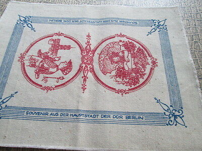 "OLD very rare Vint Placemats printed from"" Souvenir aus der DDR Berlin"" Germany"