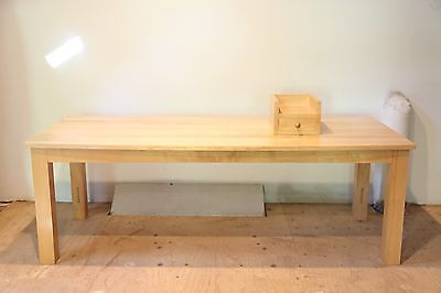 Vintage ROY McMAKIN Desk-DOMESTIC FURNITURE Co. Lacquered Wood, Maple Table