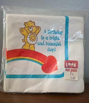 Care Bear Vintage Napkins Funshine Bear Birthday American Greeting Retro Party
