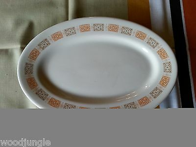 Vintage SHENANGO China ORANGE BROWN OVAL PLATTER CHINESE FOOD  RESTAURANT WARE