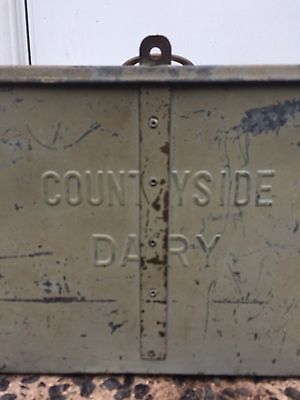 "Antique Farm ""Countryside Dairy"" Milk Bottle Icebox"