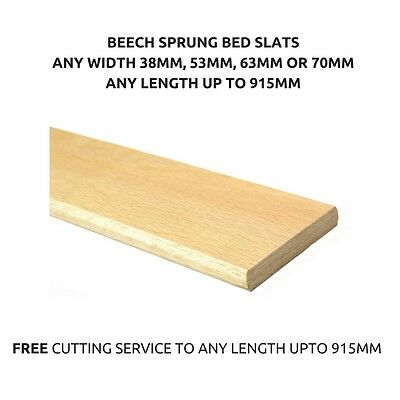 Beech Replacement Wooden Sprung Bed Slats - Any Width-Any Length -Fast Delivery