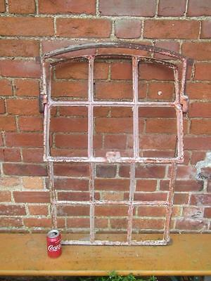 Vintage Metal Framed Window French Industrial Chic Design Reclaimed Free Post