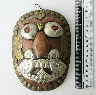 Decorative Old Tibet Tibetan Copper Buddhist Mask