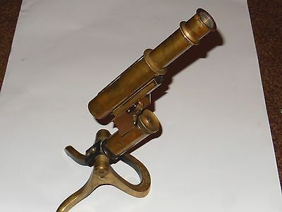Antique Microscope Stand HENRY CROUCH LONDON ca 1890 s/n 7438