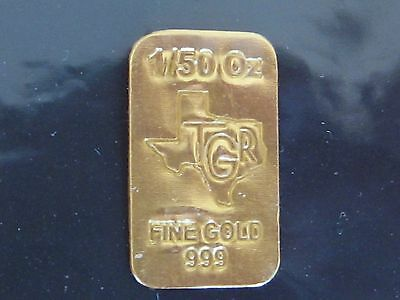 TGR Texas Gold Reserve .999 Fine Gold Bar! Pure 24 Karat Gold in tradeable size!