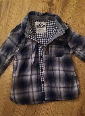 Boys Long Sleeved Checked Shirt 9-12 months