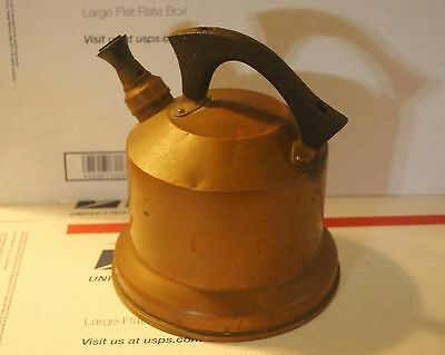 Antique Art Deco West Bend WB Solid Cooper Coffee Tea Pot With Wood Handle