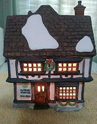 Department 56 Tutbury Printer Dickens Village Series #5568-9 Dept D56 with Box