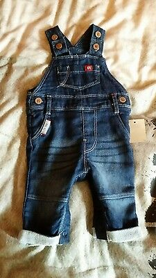 brand new baby boy dungarees 0-3 months