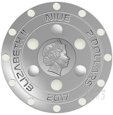 2017 UFO ROSWELL INCIDENT 70th Anniversary Silver Coin..