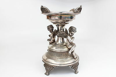 Meriden Brides Basket/Centerpiece #1684 Quadruple(Silver) Plate with Cherubs