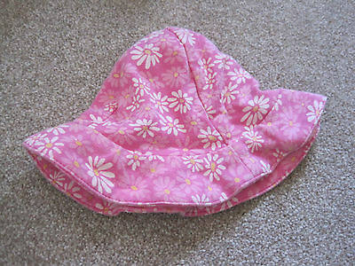 marks & spencer Baby girl pink flower sun hat 6-9 months